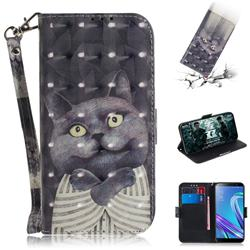Cat Embrace 3D Painted Leather Wallet Phone Case for Asus Zenfone Max (M1) ZB555KL