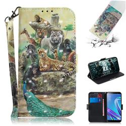 Beast Zoo 3D Painted Leather Wallet Phone Case for Asus Zenfone Max (M1) ZB555KL