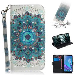 Peacock Mandala 3D Painted Leather Wallet Phone Case for Asus Zenfone Max (M1) ZB555KL