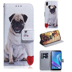 Pug Dog PU Leather Wallet Case for Asus Zenfone Max (M1) ZB555KL