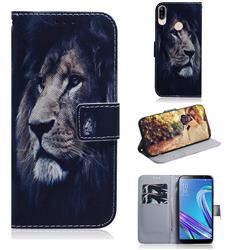 Lion Face PU Leather Wallet Case for Asus Zenfone Max (M1) ZB555KL