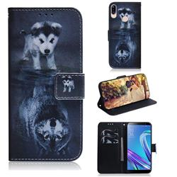 Wolf and Dog PU Leather Wallet Case for Asus Zenfone Max (M1) ZB555KL