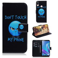 Not Touch My Phone PU Leather Wallet Case for Asus Zenfone Max (M1) ZB555KL