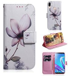 Magnolia Flower PU Leather Wallet Case for Asus Zenfone Max (M1) ZB555KL