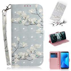 Magnolia Flower 3D Painted Leather Wallet Phone Case for Asus Zenfone Max Plus (M1) ZB570TL