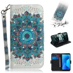 Peacock Mandala 3D Painted Leather Wallet Phone Case for Asus Zenfone Max Plus (M1) ZB570TL