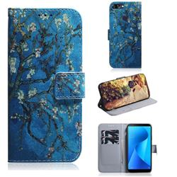 Apricot Tree PU Leather Wallet Case for Asus Zenfone Max Plus (M1) ZB570TL
