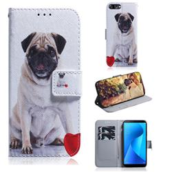 Pug Dog PU Leather Wallet Case for Asus Zenfone Max Plus (M1) ZB570TL