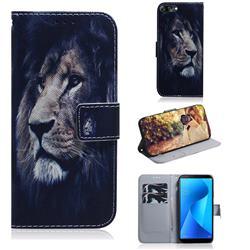 Lion Face PU Leather Wallet Case for Asus Zenfone Max Plus (M1) ZB570TL