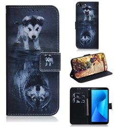Wolf and Dog PU Leather Wallet Case for Asus Zenfone Max Plus (M1) ZB570TL