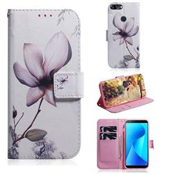 Magnolia Flower PU Leather Wallet Case for Asus Zenfone Max Plus (M1) ZB570TL