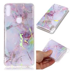 Pink Purple Marble Pattern Bright Color Laser Soft TPU Case for Asus Zenfone Max Pro (M1) ZB601KL