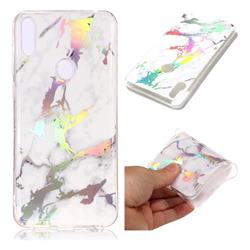 White Marble Pattern Bright Color Laser Soft TPU Case for Asus Zenfone Max Pro (M1) ZB601KL