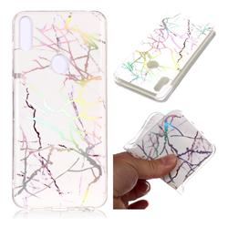 Color White Marble Pattern Bright Color Laser Soft TPU Case for Asus Zenfone Max Pro (M1) ZB601KL