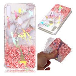 Powder Sandstone Marble Pattern Bright Color Laser Soft TPU Case for Asus Zenfone Max Pro (M1) ZB601KL