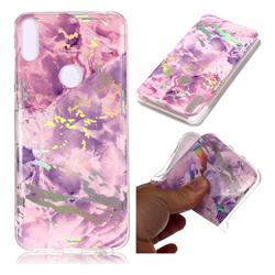Purple Marble Pattern Bright Color Laser Soft TPU Case for Asus Zenfone Max Pro (M1) ZB601KL