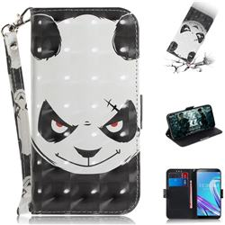 Angry Bear 3D Painted Leather Wallet Phone Case for Asus Zenfone Max Pro (M1) ZB601KL