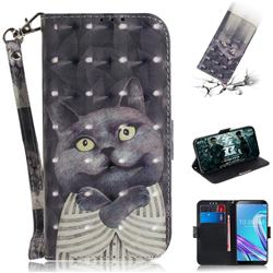 Cat Embrace 3D Painted Leather Wallet Phone Case for Asus Zenfone Max Pro (M1) ZB601KL