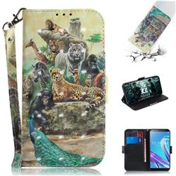 Beast Zoo 3D Painted Leather Wallet Phone Case for Asus Zenfone Max Pro (M1) ZB601KL