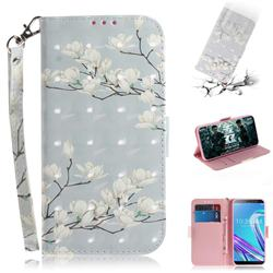 Magnolia Flower 3D Painted Leather Wallet Phone Case for Asus Zenfone Max Pro (M1) ZB601KL