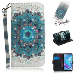 Peacock Mandala 3D Painted Leather Wallet Phone Case for Asus Zenfone Max Pro (M1) ZB601KL