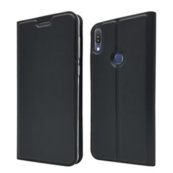 Ultra Slim Card Magnetic Automatic Suction Leather Wallet Case for Asus Zenfone Max Pro (M1) ZB601KL - Star Grey