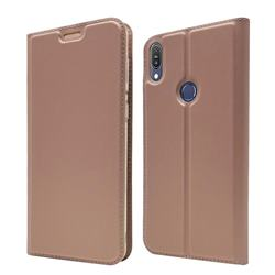 Ultra Slim Card Magnetic Automatic Suction Leather Wallet Case for Asus Zenfone Max Pro (M1) ZB601KL - Rose Gold