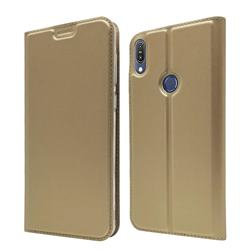 Ultra Slim Card Magnetic Automatic Suction Leather Wallet Case for Asus Zenfone Max Pro (M1) ZB601KL - Champagne