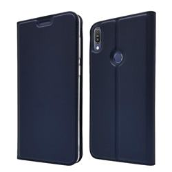 Ultra Slim Card Magnetic Automatic Suction Leather Wallet Case for Asus Zenfone Max Pro (M1) ZB601KL - Royal Blue