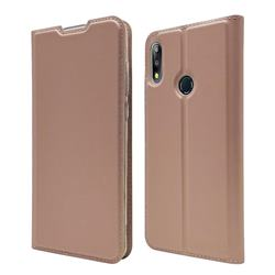 Ultra Slim Card Magnetic Automatic Suction Leather Wallet Case for Asus Zenfone Max Pro (M2) ZB631KL - Rose Gold