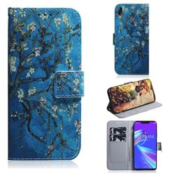 Apricot Tree PU Leather Wallet Case for Asus Zenfone Max (M2) ZB633KL