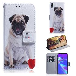 Pug Dog PU Leather Wallet Case for Asus Zenfone Max (M2) ZB633KL
