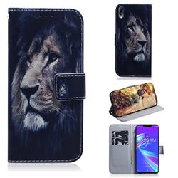 Lion Face PU Leather Wallet Case for Asus Zenfone Max (M2) ZB633KL