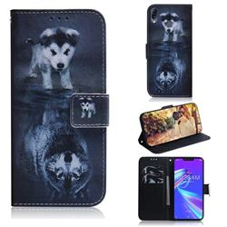 Wolf and Dog PU Leather Wallet Case for Asus Zenfone Max (M2) ZB633KL