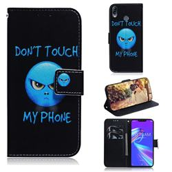 Not Touch My Phone PU Leather Wallet Case for Asus Zenfone Max (M2) ZB633KL