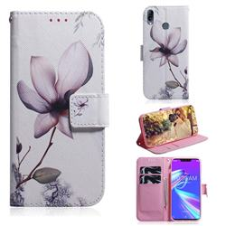 Magnolia Flower PU Leather Wallet Case for Asus Zenfone Max (M2) ZB633KL