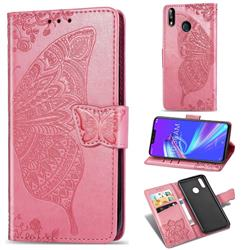 Embossing Mandala Flower Butterfly Leather Wallet Case for Asus Zenfone Max (M2) ZB633KL - Pink