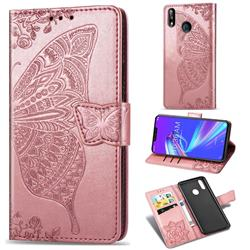 Embossing Mandala Flower Butterfly Leather Wallet Case for Asus Zenfone Max (M2) ZB633KL - Rose Gold