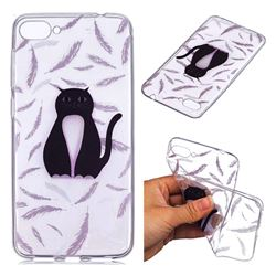 Feather Black Cat Super Clear Soft TPU Back Cover for Asus Zenfone 4 Max ZC520KL