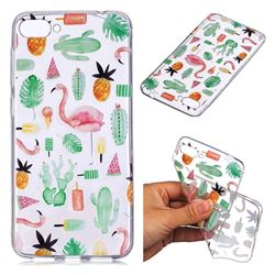 Cactus Flamingos Super Clear Soft TPU Back Cover for Asus Zenfone 4 Max ZC520KL