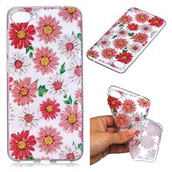 Chrysant Flower Super Clear Soft TPU Back Cover for Asus Zenfone 4 Max ZC520KL