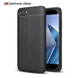 Luxury Auto Focus Litchi Texture Silicone TPU Back Cover for Asus Zenfone 4 Max ZC520KL - Black