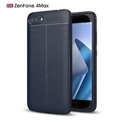 Luxury Auto Focus Litchi Texture Silicone TPU Back Cover for Asus Zenfone 4 Max ZC520KL - Dark Blue