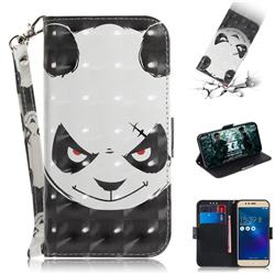 Angry Bear 3D Painted Leather Wallet Phone Case for Asus Zenfone 3 Max ZC520TL