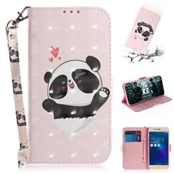 Heart Cat 3D Painted Leather Wallet Phone Case for Asus Zenfone 3 Max ZC520TL