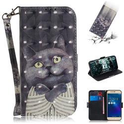 Cat Embrace 3D Painted Leather Wallet Phone Case for Asus Zenfone 3 Max ZC520TL