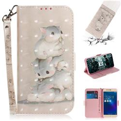 Three Squirrels 3D Painted Leather Wallet Phone Case for Asus Zenfone 3 Max ZC520TL