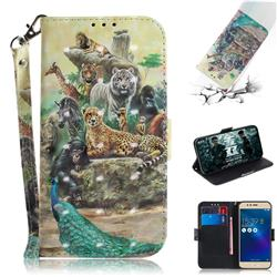 Beast Zoo 3D Painted Leather Wallet Phone Case for Asus Zenfone 3 Max ZC520TL