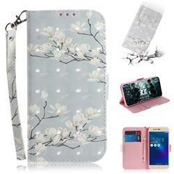 Magnolia Flower 3D Painted Leather Wallet Phone Case for Asus Zenfone 3 Max ZC520TL