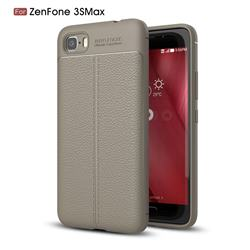 Luxury Auto Focus Litchi Texture Silicone TPU Back Cover for Asus Zenfone 3s Max ZC521TL - Gray